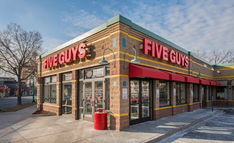 five guys around me
